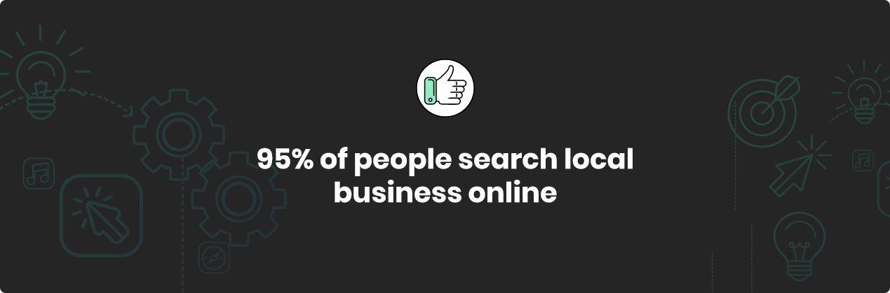 95% of people search local businesses online
