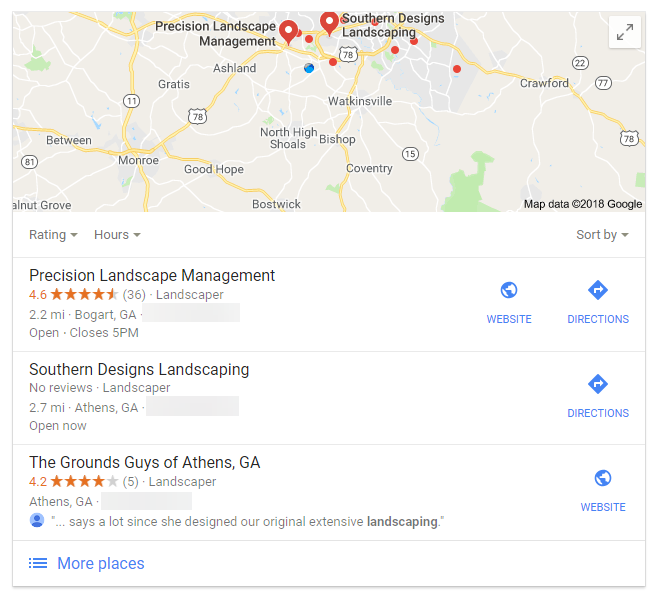The Maps Listing in Google is Called the 3-Pack
